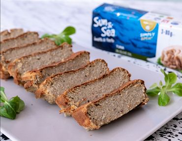 Fitness meatloaf from tuna